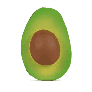 Arnold the avocado made from 100% natural rubber