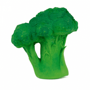 Brucy the broccoli made from 100% natural rubber