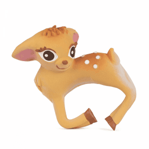 Olive the deer 100% natural, toxin-free teether or bath toy