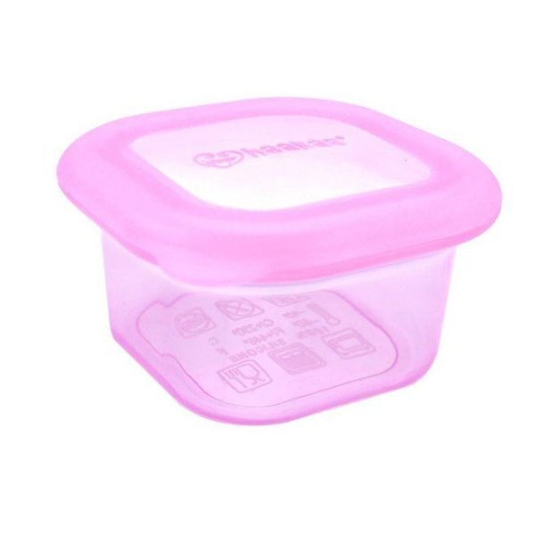 Plastic free Haakaa pink 180ml breastmilk and food container
