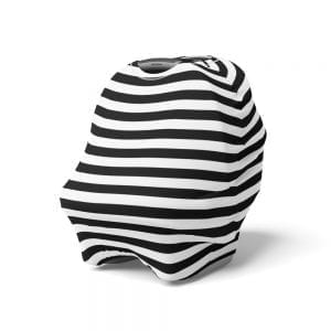 Safe 5 in 1 Multi Use Cover - Timeless Stripes - Capsule Cover, Highchair Cover, Shopping Trolley Cover, Breastfeeding Cover, Nursing Scarf