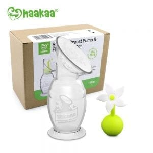 Haakaa 150ml generation 2 silicone breast pump & white flower stopper gift box