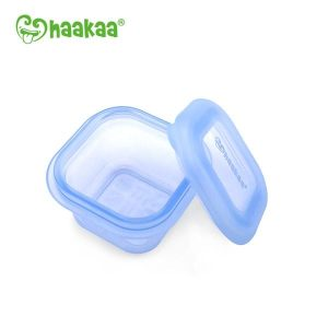 Toxin free blue 100ml breastmilk and food container