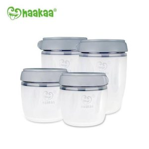 Chemical free Haakaa generation 3 silicone breastmilk storage set