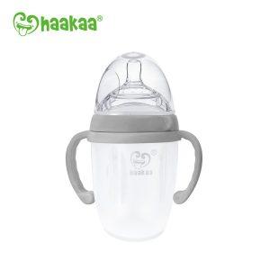 Grey silicone 250ml haakaa generation 3 baby bottle
