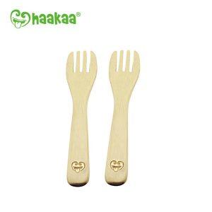 Haakaa natural bamboo kids fork