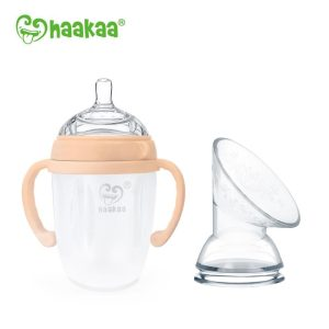 Toxin free Haakaa nude 250ml generation 3 baby bottle with pump flange