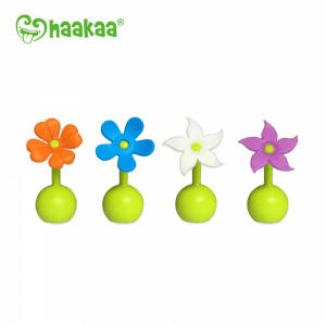 Toxin free Haakaa silicone breast pump flower stopper