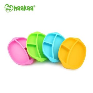 Eco-friendly Haakaa silicone divided plate