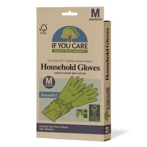 If you care natural rubber gloves