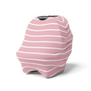 Eco-friendly 5 in 1 Multi Use Cover - Pink Stripes - Capsule Cover, Highchair Cover, Shopping Trolley Cover, Breastfeeding Cover, Nursing Scarf