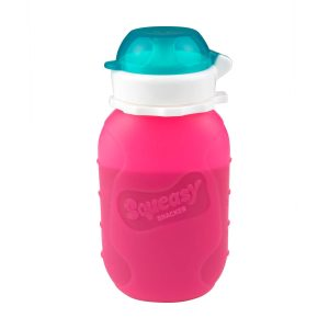Toxin free pink squeasy snacker 180ml