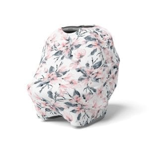 5 in 1 Multi Use Cover - Watercolour Blossom - Capsule Cover, Highchair Cover, Shopping Trolley Cover, Breastfeeding Cover, Nursing Sc