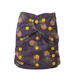 Yoho pocket cloth nappy havana pineapple
