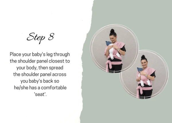 How to wrap baby wearing