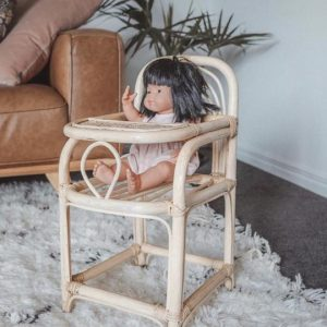 Inka natural rattan dolls furniture highchair