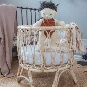 Inkah natural rattan Arlo dolls bassinet