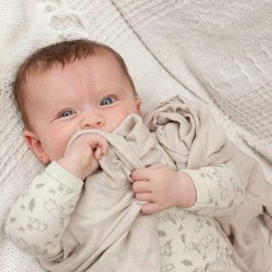 bamboo & organic cotton wrap blanket brown