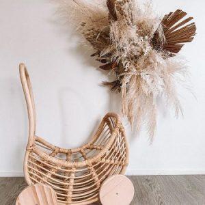 inkah natural rattan dolls pram 1