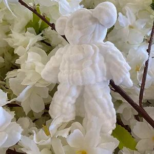 Muzzy bear muslin snuggle white chemical free