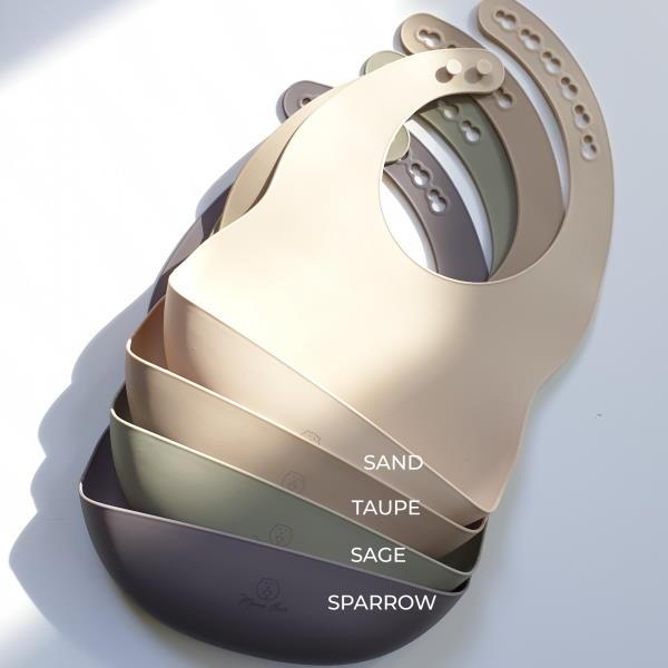 silicone catcher bib brown green