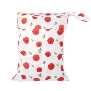 Chuckles Eternal Bloom poppy Kiwiana wet bag