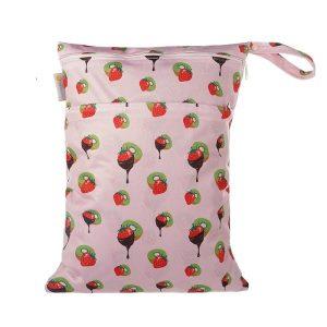 Chuckles Kiwiana wet bag Kiwi Delights Pink
