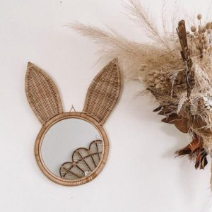 inkah rattan bunny mirror