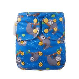 Chuckles Prima cloth nappy nz Sloth Party