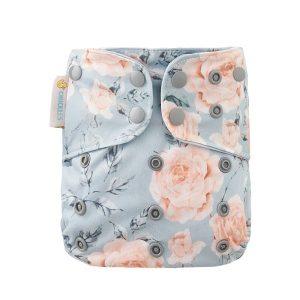 Chuckles Prima cloth nappy nz vintage rose