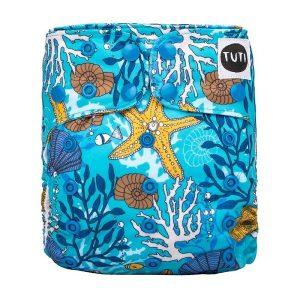 TUTI_DeepDive ocean sea coral blue cloth nappy