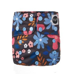 moon bloom tuti cloth nappy floral