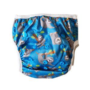 Chuckles reusable swim nappy blue sloth