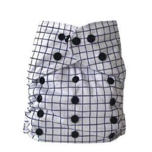 Yoho pocket cloth nappy Check Gridlock