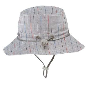 Toshi wide brimmed newborn baby sunhat francois charcoal
