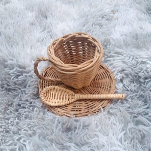 mama bear rattan tea cup set